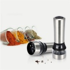 Stainless Steel Portable Electric Salt & Pepper Grinder - Silver