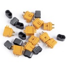 XT60-L Male + Female Plug Connector w/ Sheath Housing -Yellow(5 Pairs)