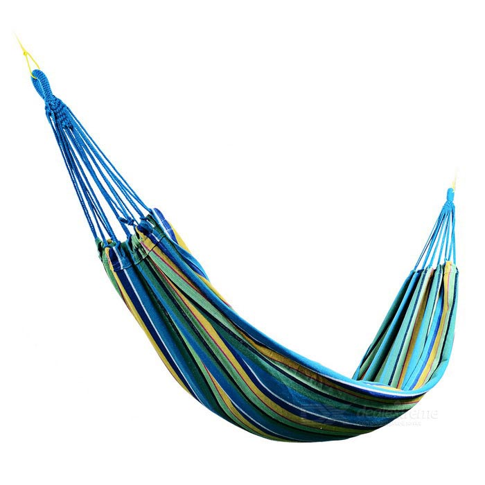 Sunfield Cotton Cloth Swing Hammock for 2 Person - Blue + Multi-Color