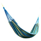 Sunfield Single Person Cotton Swing Hammock - Blue + Multi-Colored