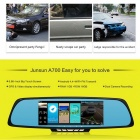 "Junsun 6.86"" Dual Lens Car DVR Rearview Camera w/ GPS, U.S.+Canada Map"