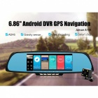"Junsun 6.86"" Dual Lens Car DVR Rearview Camera w/ GPS, Australia Map"