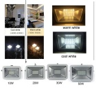 Uniting IP65 50W 100-2835 LED Cool White Flood Light (AC 100-240V)