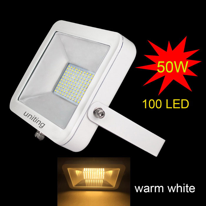 Uniendo IP65 50W Luz LED blanco cálido 100-2835 Flood (AC 100 ~ 240V)