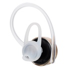 M99 Stereo Single Ear-hook Bluetooth Earphone w/ Mic. - Black + Gold