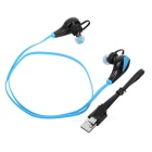 Professional Sports Bluetooth V4.1 Earphones with Mic - Blue + Black