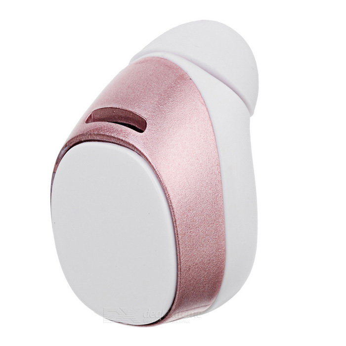 Mini7 Stereo Single In-Ear Bluetooth Earphone w/ Mic. - Rose Gold