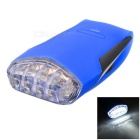 Bike Bicycle 4-LED Silicone Neutral White Light Headlamp - Blue