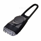 Bike Bicycle 4-LED Silicone Neutral White Light Headlamp - Black