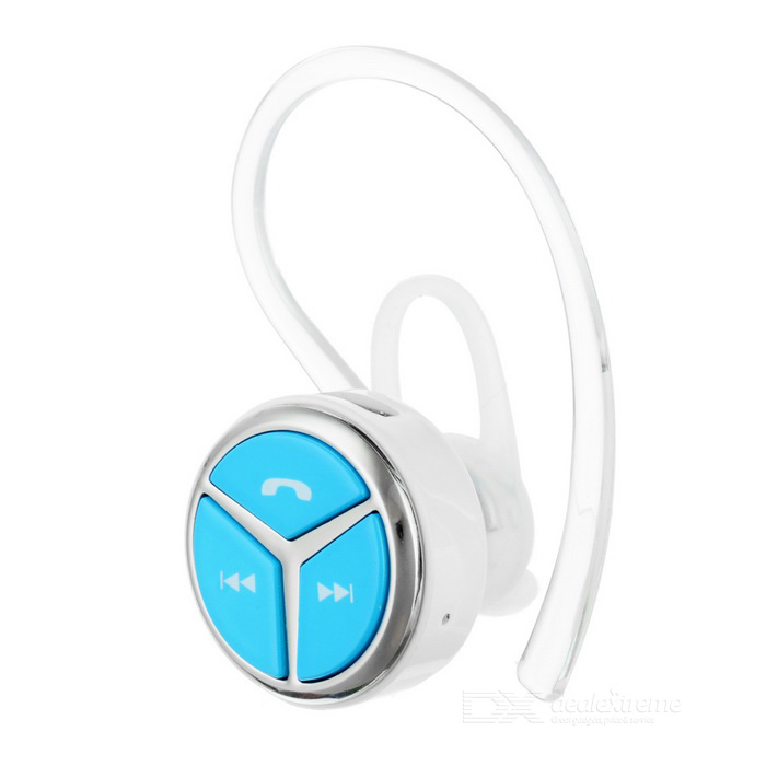 Mini Wireless Oído-gancho estéreo Bluetooth V4.1 para auriculares - azul + blanco