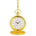 Popular Flip Open Quartz Pocket Watch w/ Waist Chain - Golden (1*377)