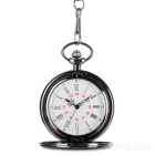 Popular Flip Open Quartz Pocket Watch w/ Waist Chain - Black (1 * 377)