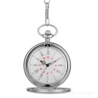 Popular Flip Open Quartz Pocket Watch w/ Waist Chain - Silver (1*377)
