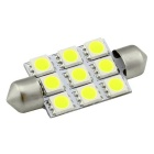 DC 12V150lm 6500K Cold White Light Car Dome / Door / License Plate Lamp Bulb