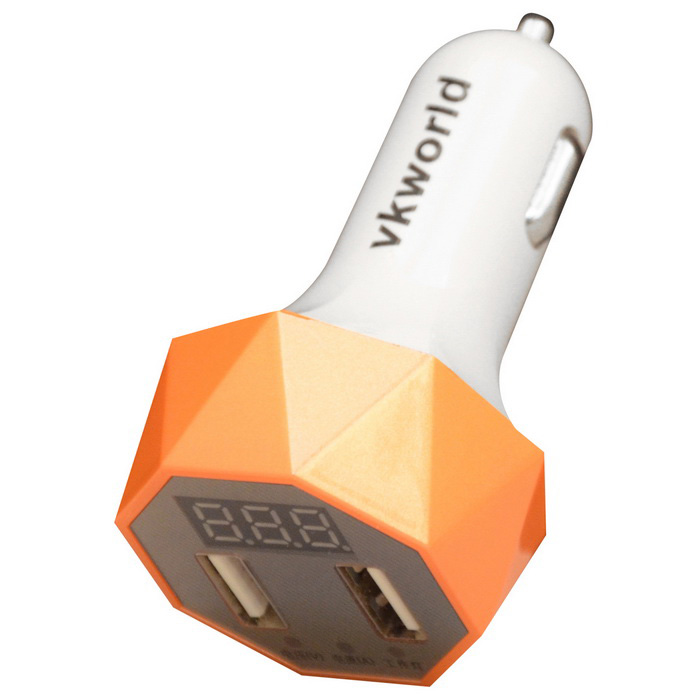 Vkworld C103 Quick Charge 2 Portas USB Car Charger Adapter - Orange