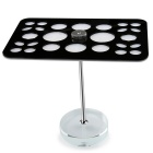 26 Mix Size Cosmetic Makeup Brush Acrylic Holder - Black + White
