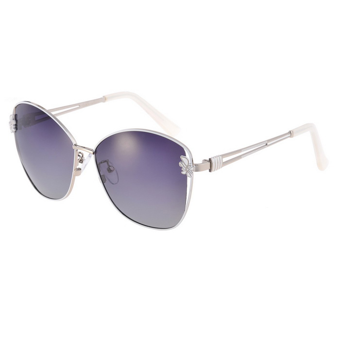 Senlan 9501C1 Women's Polarized Sunglasses - White