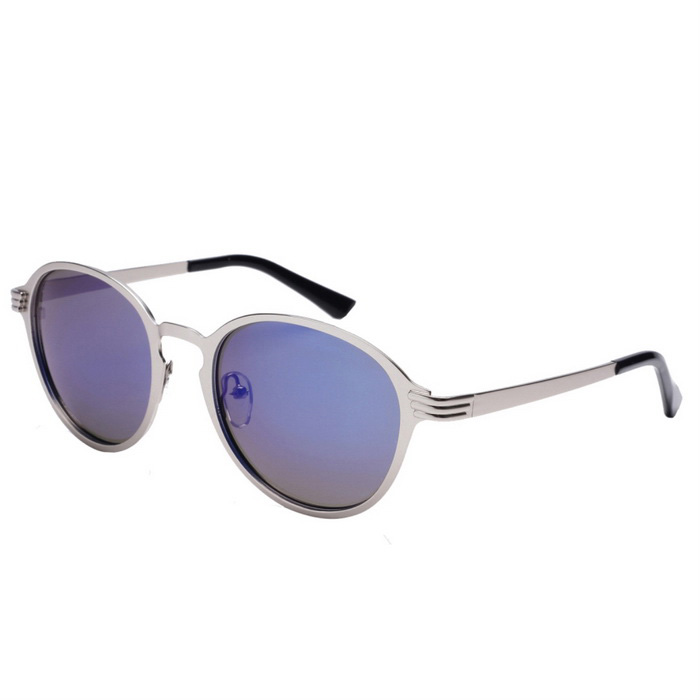 Senlan 8639C2 Women's Polarized Sunglasses - Silver + Blue REVO