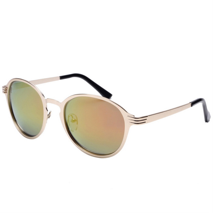 Senlan 8639C1 Women's Polarized Sunglasses - Golden + Red REVO