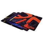 MAIKOU MK-400 400 * 450mm Rubber Mouse Pad Mat - Black + Orange