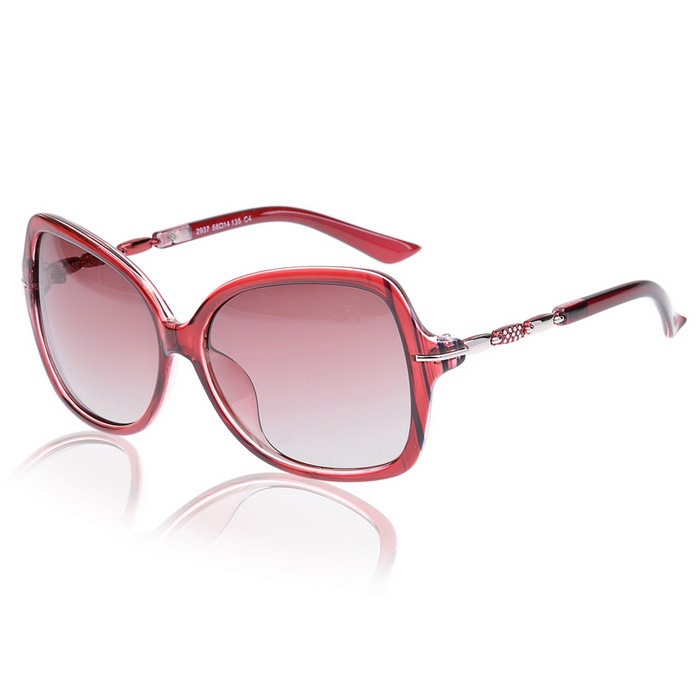 Senlan 2937C4 Women's Polarized Sunglasses - Wine Red