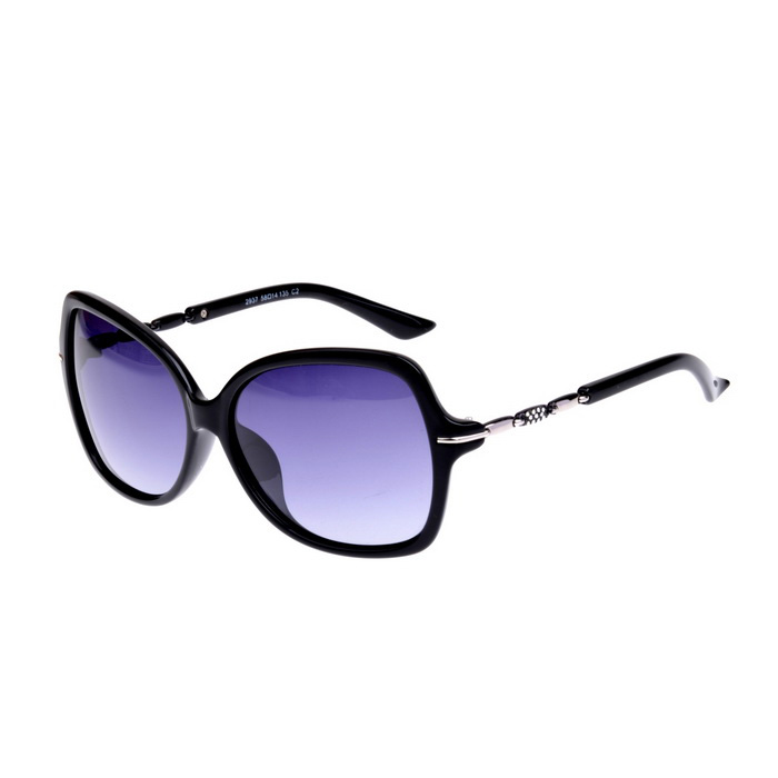 Senlan 2937C2 Women's Polarized Sunglasses - Black