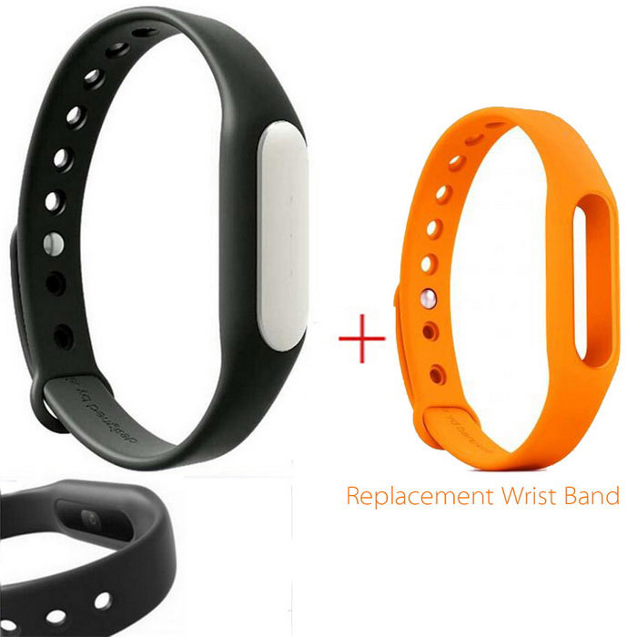Xiaomi Mi Band 1S Smart Bracelet + Replacement Wristband -Black+Orange