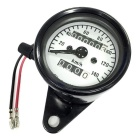 IZTOSS B732 12V Motorcycle LED Odometer Speedometer - White + Black