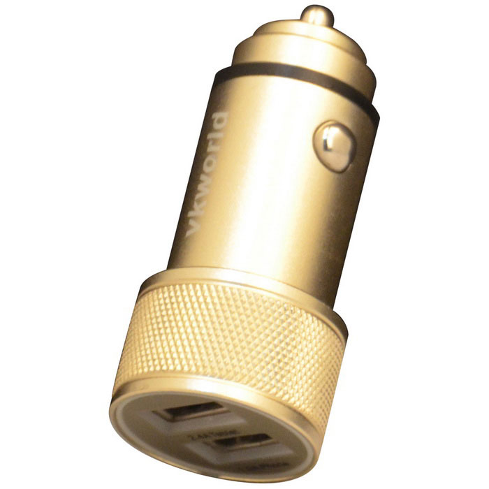 Vkworld C102 2 USB porty autonabíječka - Golden