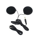 3.5mm Motorcycle Helmet Stereo Speakers MP3 Earphones - Black