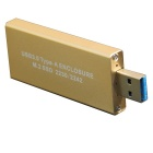 WBTUO NGFF/M.2 to USB 3.0 Type Hard Disk Enclosure - Golden