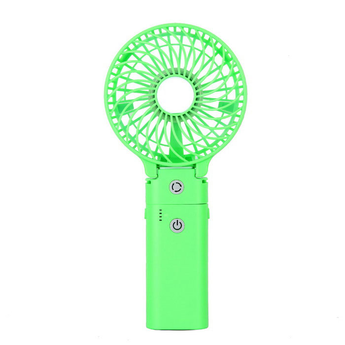 Mini 4000mAh USB Power Bank Handheld Ar Condicionado Fan - Verde