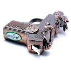 SHENYASHI SYS0106 Novel recarregáveis ​​windproof Gas Lighter - Coppery
