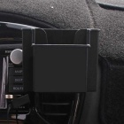 ZIQIAO Car Stowing Tidying Storage Box Mobile Phone Holder - Black