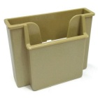 ZIQIAO Car Stowing Tidying Storage Box Mobile Phone Holder - Beige