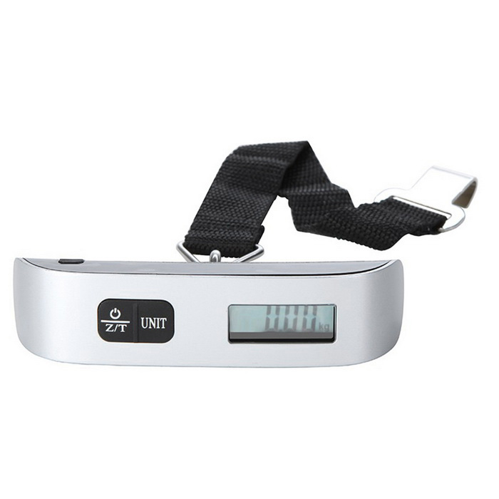 Portable LCD Display Electronic Luggage Scale - Black + Silver
