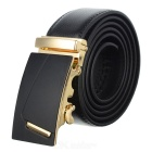 Fashion Cow Split Leather Waist Band with Zinc Alloy Automatic Buckle (120cm)
