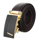 "Men's ""7"" Pattern Automatic Buckle Belt - Brown + Golden"