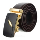 Fashionable Cow Split Leather Waist Band with Zinc Alloy Buckle (120cm)