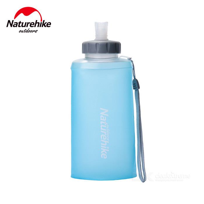 NatureHike 500ml Portable Outdoor Sports Folding Water Bottle - Blue