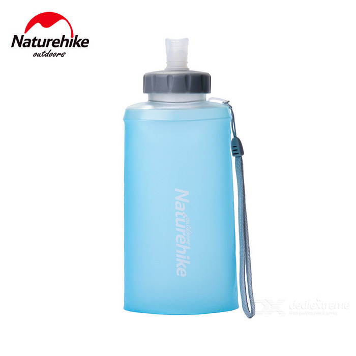 NatureHike 750ml Portable Outdoor Sports Folding Water Bottle - Blue