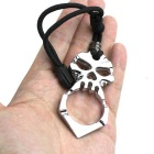 Skull Style Outdoor Survival Tool - Black + Silver