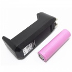 3.7V 2000mAh 18650 Battery + Single Charger Set - Black + Pink