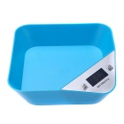 Precise Electronic Digital LCD White Backlight Kitchen Scale - Blue