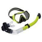 Anti-fog Diving Equipment Adjustable Swimming Goggles - Greenyellow