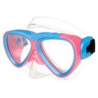 Children's Diving Tempered Glass Lens Mask Goggles - Pink + Blue
