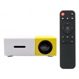 YG300 Mini Portable 1080P HD LED Projector Multimedia Home Theater - Black (EU Plug)