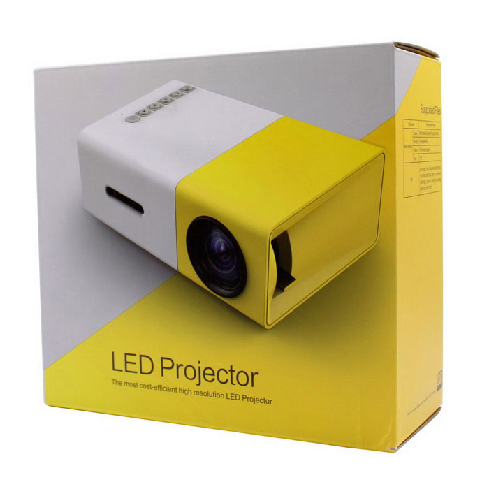 Yg300 mini portable 1080p hd led projector multimedia home for Mirror mini projector
