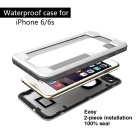 WPC-01 Waterproof PC + TPU Case Cover for IPHONE 6  /6S - White