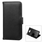 Protective PU Leather Flip-Open Case for Samsung Galaxy S7 - Black